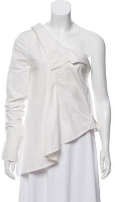 Monse Collared One-Sleeve Top
