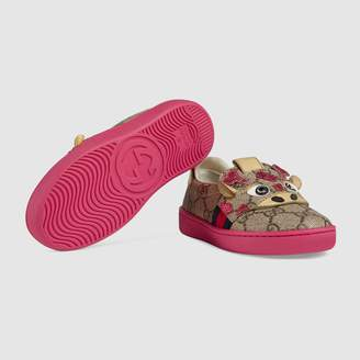Gucci Toddler Ace GG sneaker with giraffe