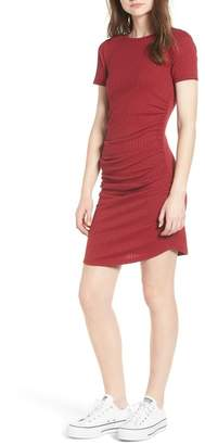 BP Ruched Ribbed Bodycon Dress