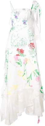 Rosie Assoulin floral print layered asymmetric slip dress