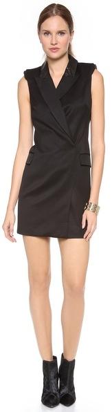 Rachel Zoe Cambridge Tux Dress with Leather
