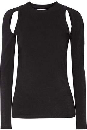 Dkny Cutout Stretch-Cotton Jersey Top