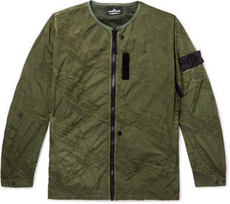 Stone Island Shadow Project Logo-Appliqued Garment-Dyed Water-Repellent Nylon Jacket