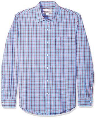 Amazon Essentials Men's Slim-Fit Long-Sleeve Plaid Shirt