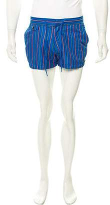 Marc by Marc Jacobs Striped Flat Front Swim Trunks