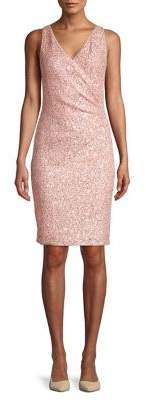 Vince Camuto Sequin V-Neck Sheath Dress