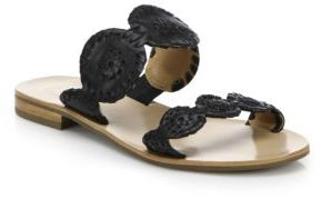 Jack Rogers Lauren Bicolor Leather Sandals $128 thestylecure.com