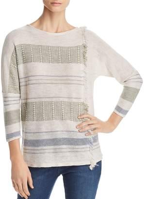 Nic+Zoe Juniper Fringe-Trim Lightweight Sweater