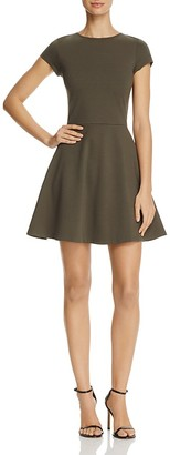 AQUA Short Sleeve Fit-and-Flare Dress - 100% Exclusive $88 thestylecure.com