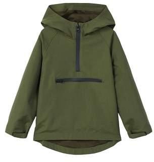 MANGO Message hooded jacket