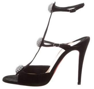 Christian Louboutin Embellished T-Strap Sandals