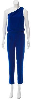 Halston One-Shoulder Skinny Jumpsuit