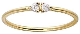 WWAKE Botany Double Diamond Ring - Yellow Gold
