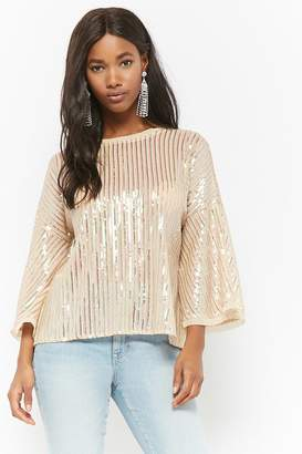 Forever 21 Mesh Sequin Top