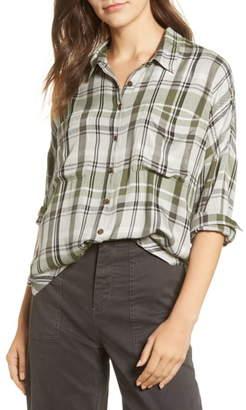 Lou & Grey Plaid Tie-Front Shirt