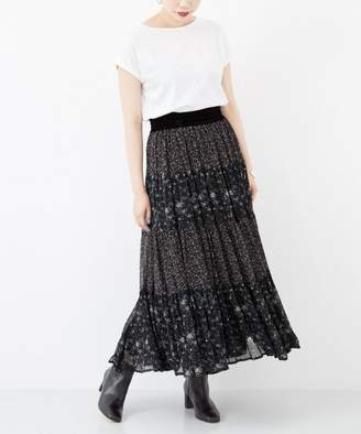 URBAN RESEARCH (アーバン リサーチ) - URBAN RESEARCH 【予約】ne Quittez pas GEORGETTE FLOWER PANEL LONG SKIRT
