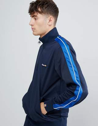 Ellesse Vinio 1/2 zip sweatshirt with taping in navy