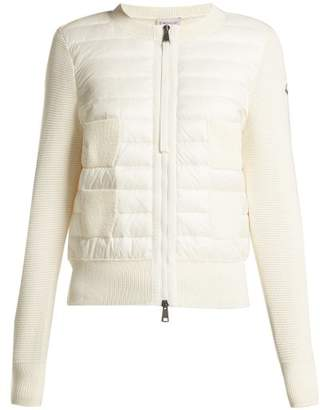 Moncler - Wool And Quilted Shell Jacket - Womens - White