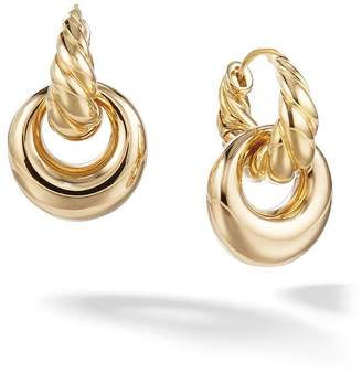 David Yurman 18kt yellow gold Pure Form drop earrings