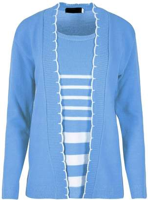 2a81f2673b5 at Amazon Canada · Rimi Hanger Womens Knitted Twin Set Sweater Inserted  Cardigan 2X Large