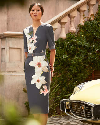BISSLEE Chatsworth Bloom bodycon dress