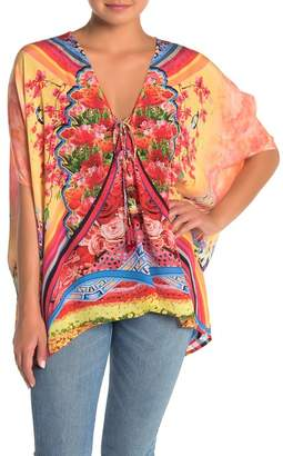 Shahida Parides Convertible 4-Way Lace-Up Caftan Top