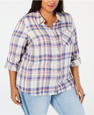 Style&Co. Style & Co Plus Size Plaid Shirt