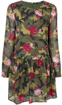 Twin-Set floral camouflage flared dress