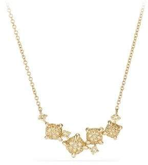 David Yurman Chatelaine Diamond 18k Gold Necklace