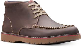 Clarks Men's Vargo Apron-Toe Leather Chukka Boots