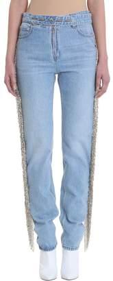 Helmut Lang (ヘルムート ラング) - Helmut Lang Fringed Straight Leg Jeans