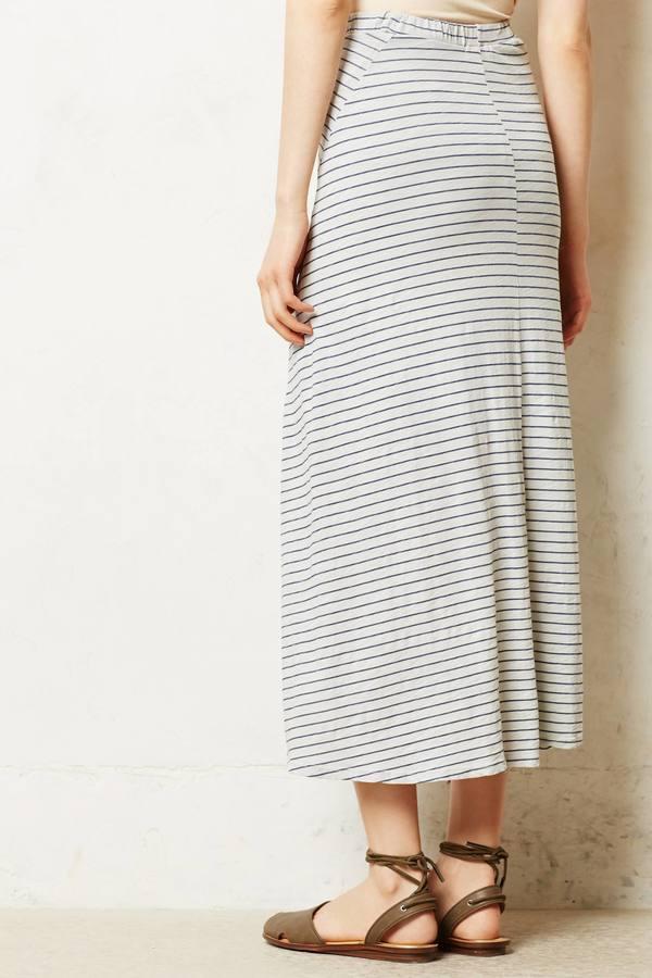 Anthropologie Sundry Swing Step Maxi Skirt