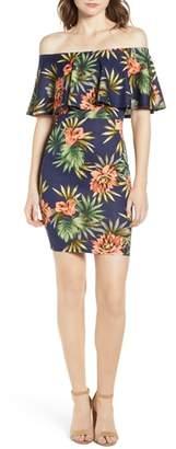 Soprano Floral Off the Shoulder Dress