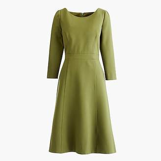 J.Crew Tall fit and flare sheath dress in stretch ponte