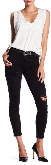 7 For All Mankind7 For All Mankind The Ankle Distressed Skinny Jean