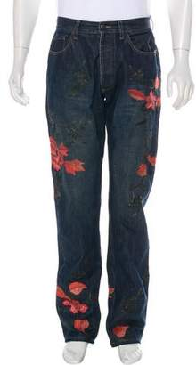 Gucci 1999 Embroidered Flowers Jeans