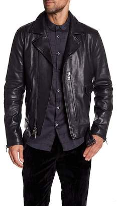 John Varvatos Collection Zip Closure Biker Jacket