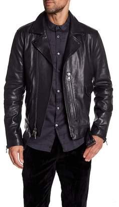 John Varvatos Collection Zip Closure Biker Jacket