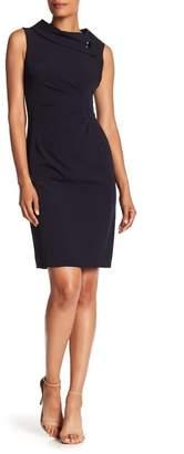 Tahari Foldover Envelope Sheath Dress