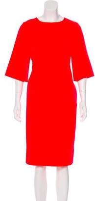 Marni Three-Quarter Sleeve Midi Dress