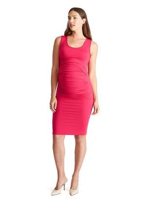 Ingrid & Isabel Ingrid and Isabel Women's Pleated Maternity Tank Dress