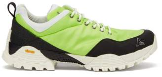 ROA Oblique Rippy Mesh Trimmed Ripstop Trainers - Mens - Green Multi