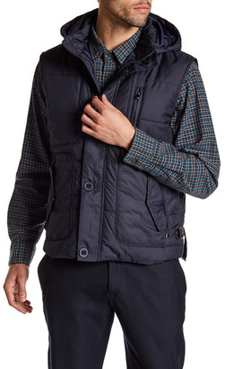 Enzo Graham Quilted Toggle Hood Vest $195 thestylecure.com