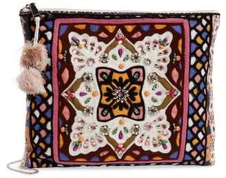 Steve Madden Byzantine Pattern Zip Clutch