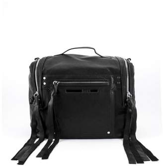 Alexander McQueen Black Leather Loveless Mini Backpack