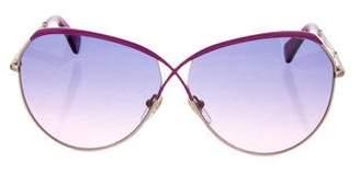 Diane von Furstenberg Tinted Aviator Sunglasses