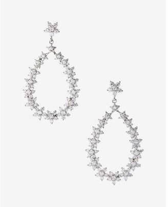 Express cubic zirconia oval drop earrings