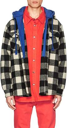 424 Men's Buffalo Plaid Wool Shirt Jacket