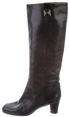 Marc Jacobs Leather Round-Toe Boots