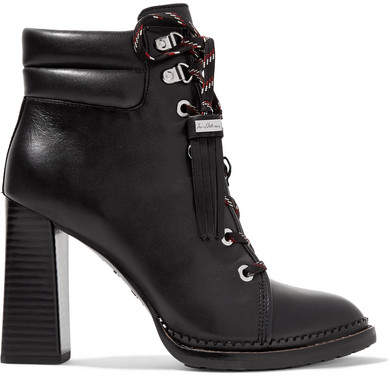 Sam Edelman - Sondra Lace-up Leather Ankle Boots - Black